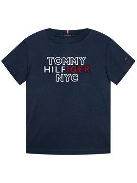 TOMMY HILFIGER TOMMY HILFIGER Marškinėliai Th Nyc Graphic Tee KB0KB05848 M Tamsiai mėlyna Regular Fit