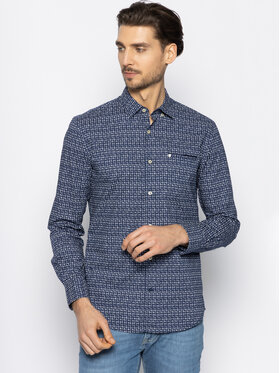 Pierre Cardin Pierre Cardin Marškiniai 5876/27122/9021 Tamsiai mėlyna Modern Fit