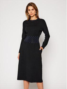 Tory Burch Tory Burch Džemper haljina Rib Waist 76402 Crna Regular Fit