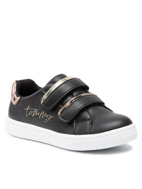 Tommy Hilfiger Tommy Hilfiger Sneakersy Low Cut Velcro Sneaker T1A4-31156-1242 S Czarny