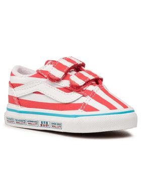 Vans Vans Teniszcipő Old Skool V VN0A38JN3UV1 Piros