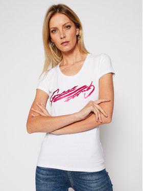 Guess Guess T-Shirt Latisha Tee W0BI84 J1311 Biały Slim Fit