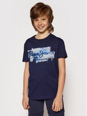 Pepe Jeans Pepe Jeans Tricou Golders Jk PB501338 Bleumarin Regular Fit