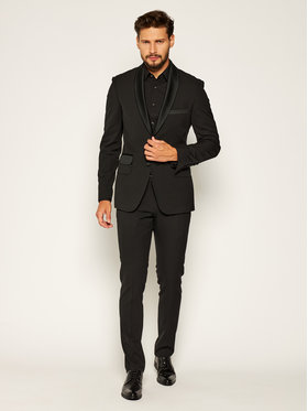 Rage Age Rage Age Costum Smoking Fuun Negru Slim Fit