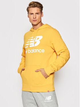 New Balance New Balance Bluza Essentials Stacked Logo Po MT03558 Żółty Relaxed Fit