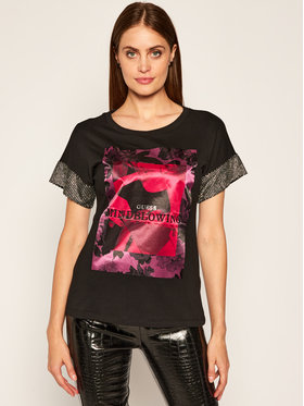 Guess Guess Тишърт Ss Cn Andromeda Tee W0YI52 K7DN0 Черен Relaxed Fit
