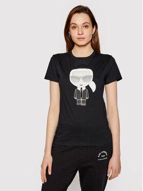 KARL LAGERFELD KARL LAGERFELD T-Shirt Ikonik Karl 210W1721 Černá Regular Fit