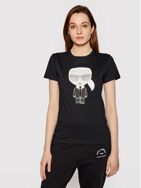 KARL LAGERFELD KARL LAGERFELD T-Shirt Ikonik Karl 210W1721 Czarny Regular Fit