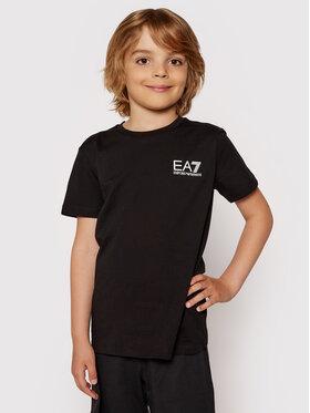 EA7 Emporio Armani EA7 Emporio Armani T-shirt 3KBT51 BJ02Z 1200 Crna Regular Fit
