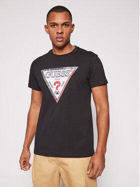 Guess Guess T-Shirt M1RI72 K8FQ1 Černá Regular Fit