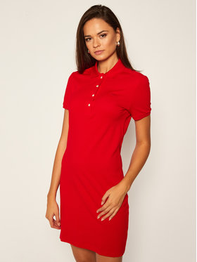 Lacoste Lacoste Úpletové šaty EF5473 Červená Slim Fit