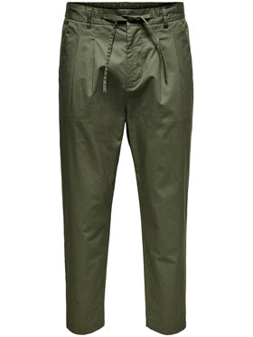 Only & Sons ONLY & SONS Chino kalhoty Dew 22019208 Zelená Regular Fit