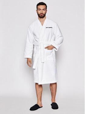 KARL LAGERFELD KARL LAGERFELD Robe de chambre Unisex Logo 211U2130 Blanc