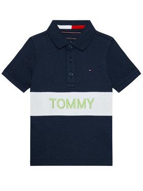Tommy Hilfiger Tommy Hilfiger Pólóing Blocking KB0KB06539 M Sötétkék Regular Fit
