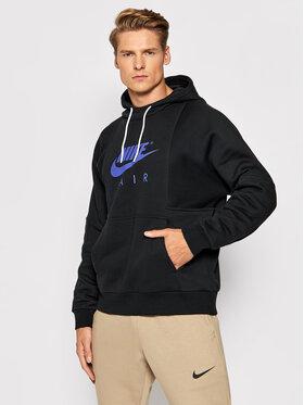Nike Nike Bluză Air Logo DD6383 Negru Regular Fit