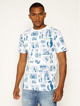 HUF HUF T-Shirt Tijuana Memories TS00995 Biały Regular Fit