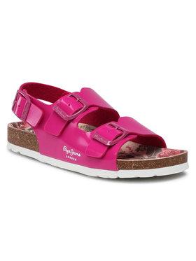 Pepe Jeans Pepe Jeans Sandały Bio Basic Buckles PGS90163 Różowy