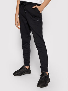 4F 4F Teplákové nohavice JSPMD001 Čierna Regular Fit