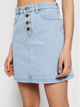 Lee Lee Džínová sukně Button Fly A Line Sk L38MMWJU Modrá Regular Fit