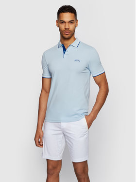 Boss Boss Tricou polo Paul Curved 50412675 Albastru Slim Fit