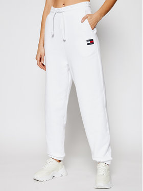 Tommy Jeans Tommy Jeans Долнище анцуг DW0DW09740 Бял Relaxed Fit