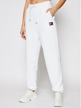 Tommy Jeans Tommy Jeans Teplákové kalhoty DW0DW09740 Bílá Relaxed Fit