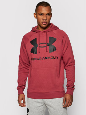Under Armour Under Armour Bluză Rival Fleece Big Logo 1357093 Vișiniu Loose Fit