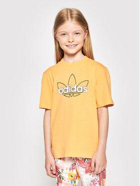 adidas adidas Marškinėliai Unisex Sprt Collection Graphic GN2288 Oranžinė Regular Fit
