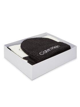 Calvin Klein Calvin Klein Комплект шал и шапка Beanie + Scarf 30X180 K60K607278 Черен