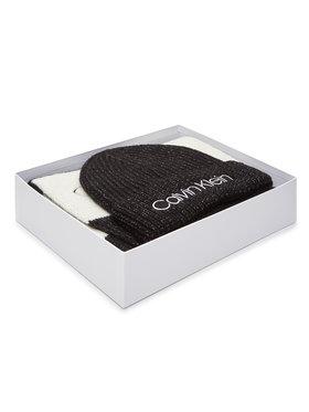 Calvin Klein Calvin Klein Set čiapka a šál Beanie + Scarf 30X180 K60K607278 Čierna