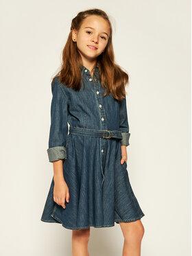 Lauren Ralph Lauren Lauren Ralph Lauren Kasdieninė suknelė Denim Shirtd 313698860001 Tamsiai mėlyna Regular Fit