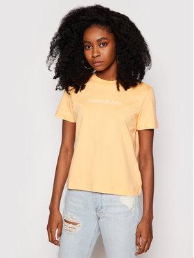 Calvin Klein Jeans Calvin Klein Jeans Marškinėliai J20J215322 Oranžinė Regular Fit