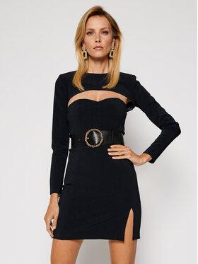 Elisabetta Franchi Elisabetta Franchi Коктейлна рокля TB-001-07E2-V499 Черен Slim Fit