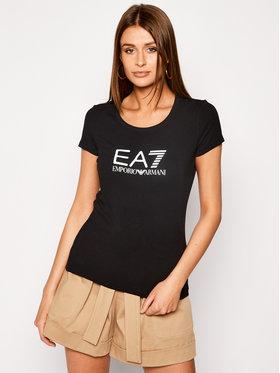 EA7 Emporio Armani EA7 Emporio Armani Póló 8NTT63 TJ12Z 1200 Fekete Slim Fit