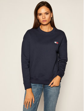 Tommy Jeans Tommy Jeans Bluza Tommy Badge Crew DW0DW07786 Granatowy Regular Fit