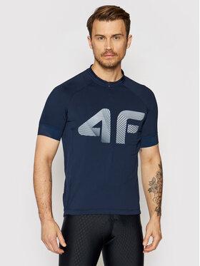 4F 4F Techniniai marškinėliai H4L21-RKM001 Tamsiai mėlyna Slim Fit