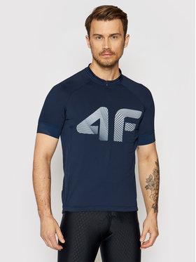4F 4F Тениска от техническо трико H4L21-RKM001 Тъмносин Slim Fit