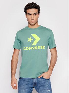 Converse Converse T-Shirt Star Chevron Tee Zielony Regular Fit