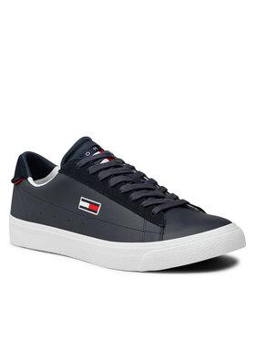 Tommy Jeans Tommy Jeans Sneakersy Retro Vulc Tjm Leather EM0EM00804 Tmavomodrá