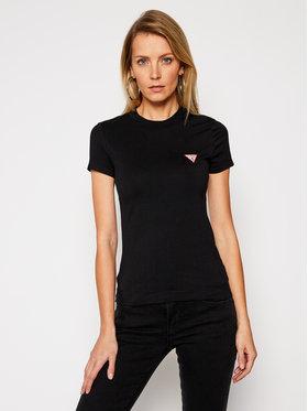 Guess Guess T-Shirt Mini Triangle W1RI04 J1311 Czarny Slim Fit