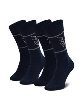 Emporio Armani Emporio Armani Vyriškų ilgų kojinių komplektas (2 poros) 302302 1A273 00035 Tamsiai mėlyna