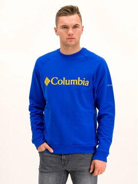 Columbia Columbia Μπλούζα Lodge Crew 1861746 Σκούρο μπλε Regular Fit