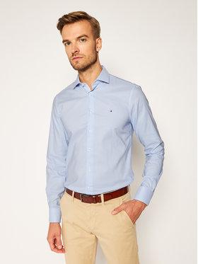 Tommy Hilfiger Tailored Tommy Hilfiger Tailored Košile Oxford Check Classic TT0TT07818 Modrá Slim Fit