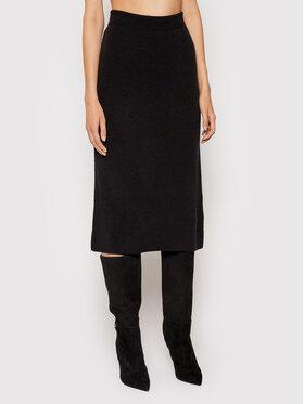 NA-KD NA-KD Pouzdrová sukně Knitted Černá Regular Fit