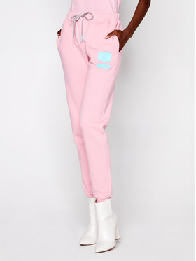 Chiara Ferragni Chiara Ferragni Teplákové kalhoty CFP073 Růžová Regular Fit