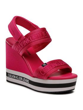 Calvin Klein Jeans Calvin Klein Jeans Sandály Wedge Sandal Sling Pes YW0YW00122 Růžová