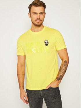 KARL LAGERFELD KARL LAGERFELD T-Shirt Crewneck 755048 Żółty Regular Fit