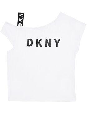 DKNY DKNY Bluzka D35R44 S Biały Regular Fit