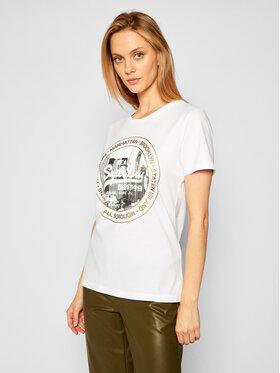 Superdry Superdry T-Shirt Nyc Photo W1010225B Biały Regular Fit