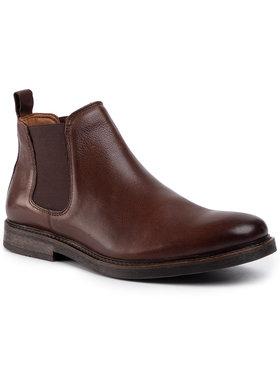 Gino Rossi Gino Rossi Kotníková obuv s elastickým prvkem MB-YURI-04 Hnědá